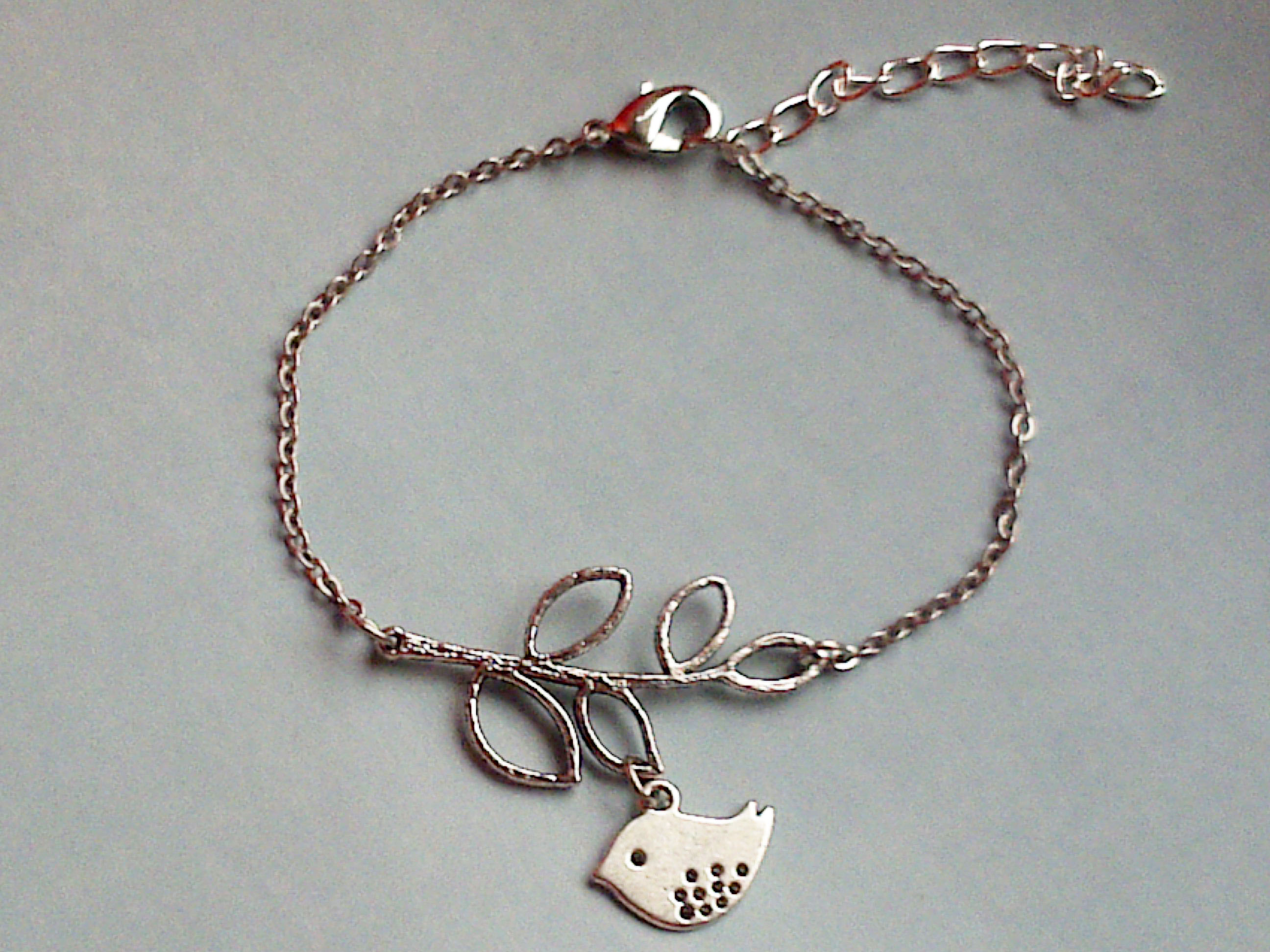 Branch And Bird Lariat Bracelet,simple Bracelet on Luulla